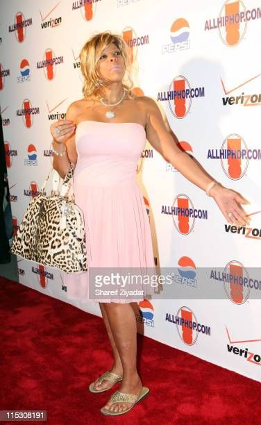 Wendy Williams during Relaunch of Allhiphopcom Hosted by Jermaine Dupree at The New Space in New York City New York United States
