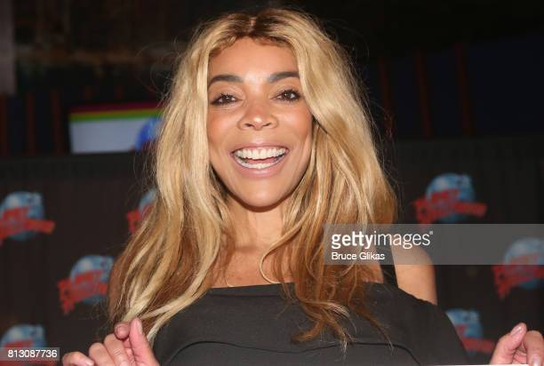Wendy Williams gets immortalized with her handprints on the wall of fame at Planet Hollywod during a celebration for her Hunter Foundation Charity...