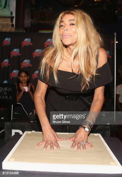 Wendy Williams gets immortalized with her handprints on the wall of fame at Planet Hollywood during a celebration for her Hunter Foundation Charity...
