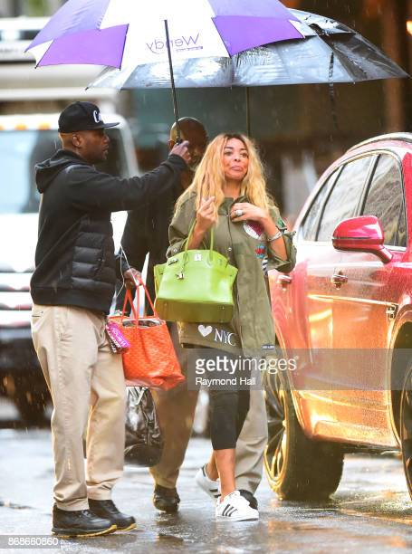Wendy Williams is seen arriving to work in Midtown on October 30 2017 in New York City