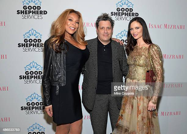 Wendy Williams Isaac Mizrahi and Georgina Chapman attend the Good Shepherd Services Spring Party hosted by Isaac Mizrahi at Stage 37 on April 24 2014...