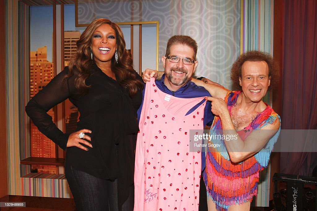 Wendy Williams Joe Mitchell of Biggest Loser and Richard Simmons visit 'The Wendy Williams Show' at The Wendy Williams Show Studio on November 15...