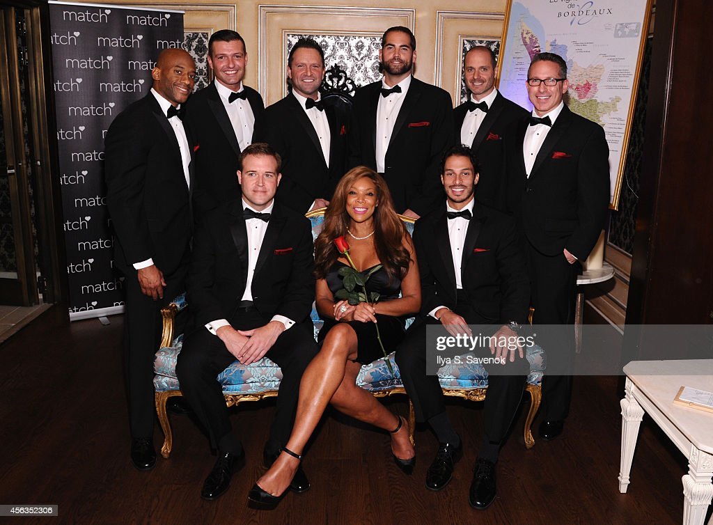 Wendy Williams poses with the bachelors at The Match Bachelor Showcase benefiting The American Heart Association hosted by Wendy Williams on September 29, 2014 in New York City.