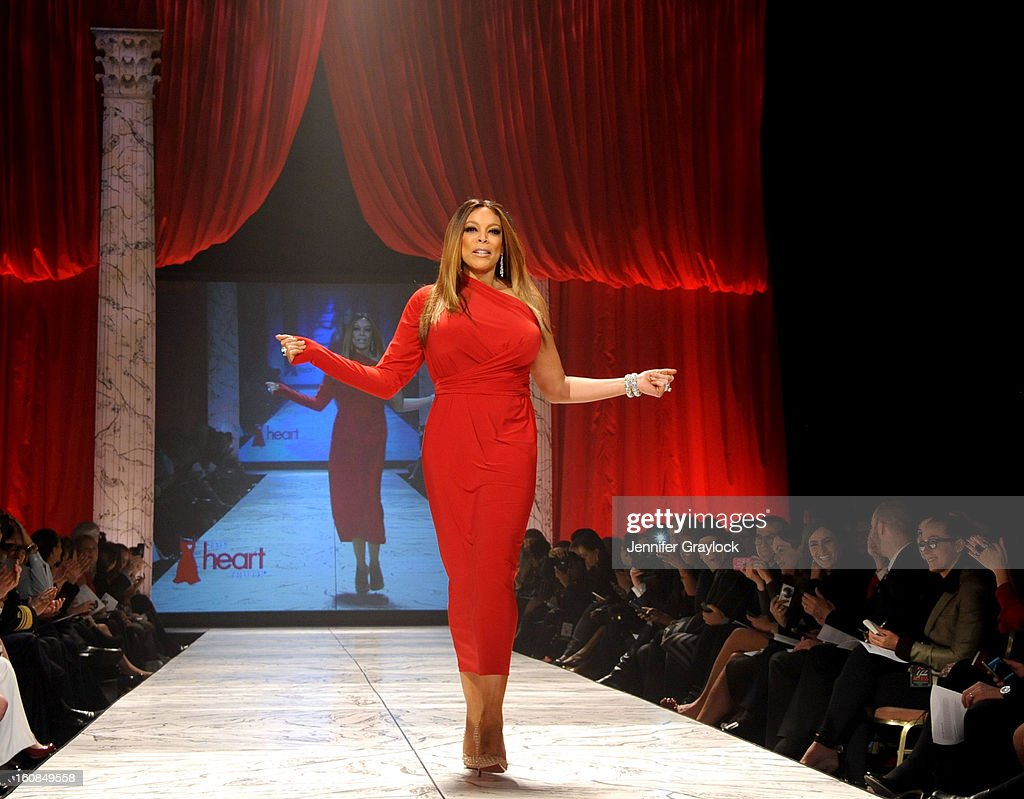 Wendy Williams wearing Kamali Kulture on the runway during The Heart Truth 2013 Fashion Show held at the Hammerstein Ballroom on February 6, 2013 in New York City.