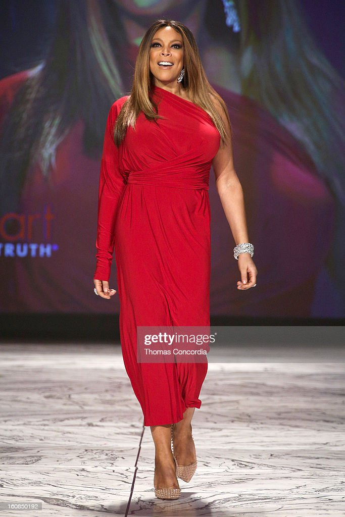 Wendy Williams wearing Kamali Kulture walks the runway at The Heart Truth's Red Dress Collection during Fall 2013 Mercedes-Benz Fashion Week at Hammerstein Ballroom on February 6, 2013 in New York City.