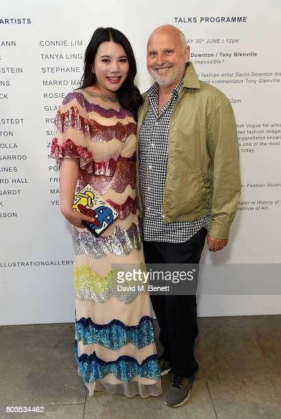 Wendy Yu and Sam McKnight attend the Fashion Illustration Gallery Art Fair private view at The Shop at Bluebird cohosted b Lucinda Chambers and Wendy...