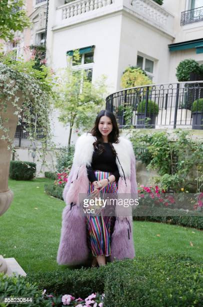 Wendy Yu arrives at the Stella McCartney show as part of the Paris Fashion Week Womenswear Spring/Summer 2018 on October 2 2017 in Paris France