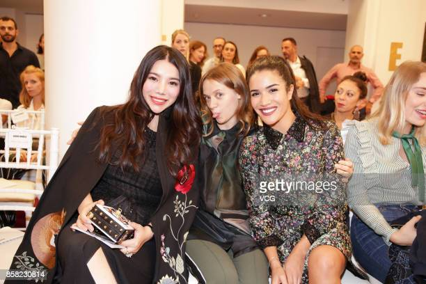 Wendy Yu attends the Alexis Mabille show as part of the Paris Fashion Week Womenswear Spring/Summer 2018 on September 29 2017 in Paris France
