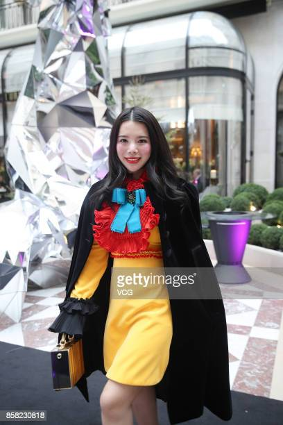 Wendy Yu attends the Giambattista Valli show as part of the Paris Fashion Week Womenswear Spring/Summer 2018 on October 2 2017 in Paris France
