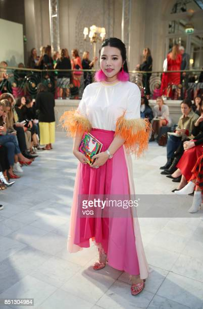 Wendy Yu attends the Peter Pilotto show during London Fashion Week Spring/Summer 2018 on September 17 2017 in London England