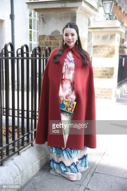 Wendy Yu attends the Temperley London show during London Fashion Week Spring/Summer 2018 on September 17 2017 in London England