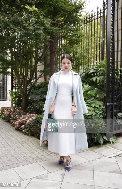 Wendy Yu attends the Vivienne Westwood show as part of the Paris Fashion Week Womenswear Spring/Summer 2018 on September 30 2017 in Paris France