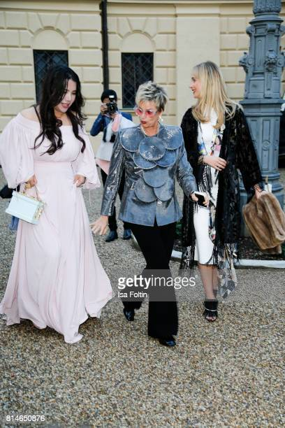 Wendy Yu Gloria von Thurn und Taxis and her daughter Elisabeth von Thurn und Taxis attend the Thurn Taxis Castle Festival 2017 'Aida' Opera Premiere...
