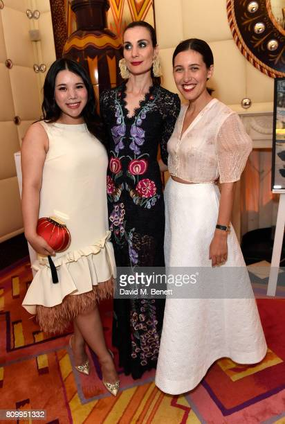 Wendy Yu Maria Kastani and Emilia Wickstead attend a private dinner to celebrate the Havaianas Art Auction in aid of Women for Women International...