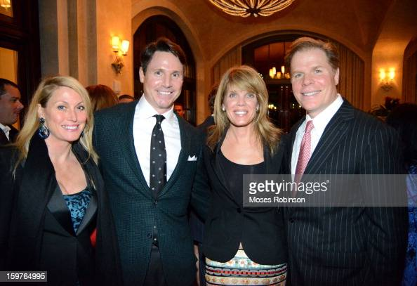Wendy Zoller Peter Corry Laura Tunner Seydel and Rutherford Seydel attend the OMEGA boutique opening at Phipps Plaza on January 17 2013 in Atlanta...