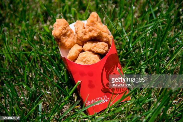 Wendy's fast food chain chicken nuggets are viewed in Bowie Maryland on May 9 2017 An American teenager has broken the world record for the most...