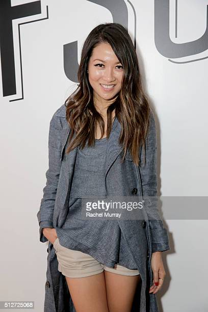 WendyÕs Lookbook blogger Wendy Nguyen poses onstage after the panel 'A New Paradigm The Power Of The Social Influencer' during the 2016 Vanity Fair...