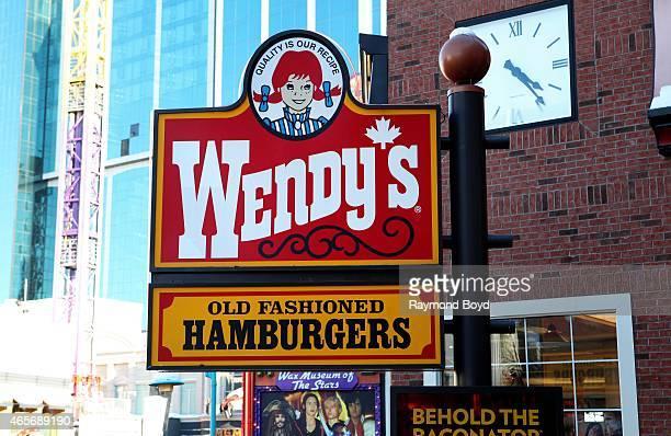 Wendy's restaurant on February 28 2015 in Niagara Falls Ontario Canada