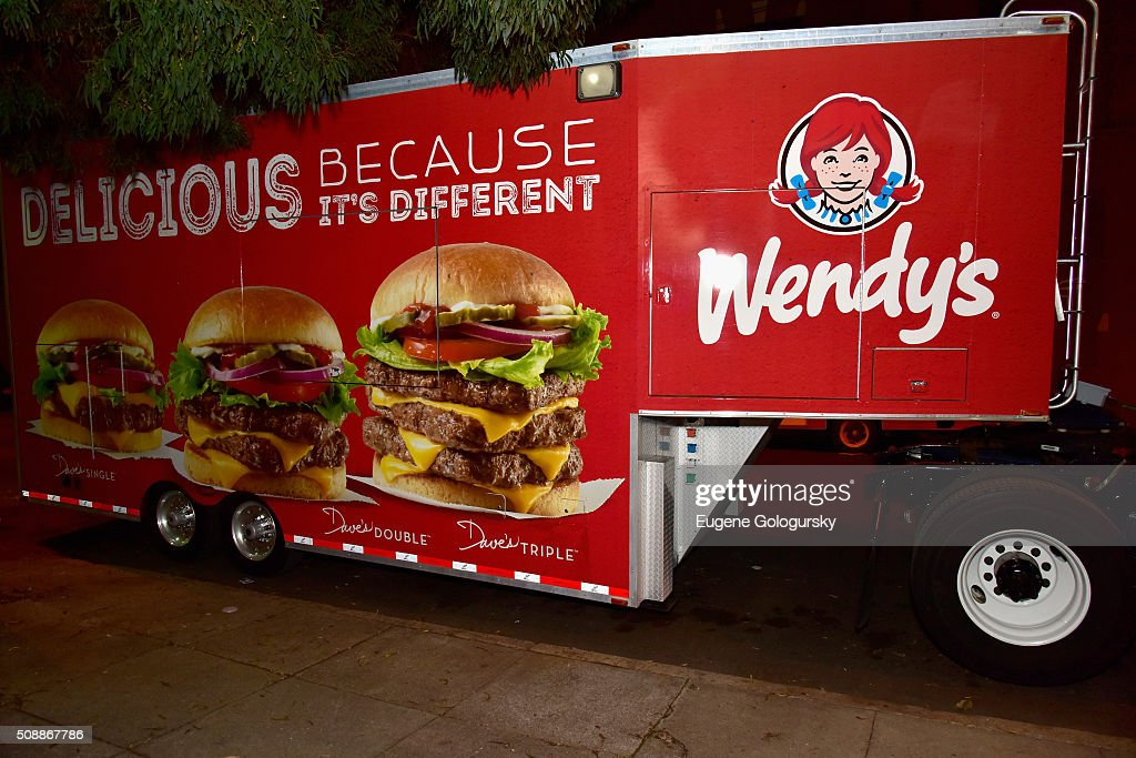 A view of the truck at Wendy's Food Truck Rolls Into Rolling Stone Live at San Francisco Design Center on February 7, 2016 in San Francisco, California.