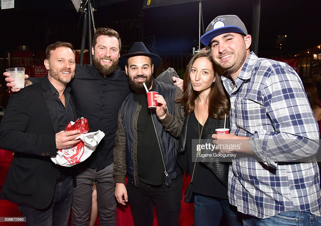 Guests at Wendy's Food Truck Rolls Into Rolling Stone Live at San Francisco Design Center on February 7, 2016 in San Francisco, California.