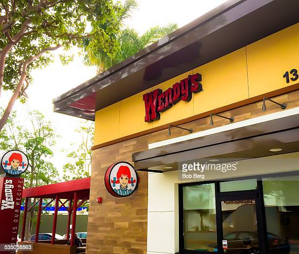 Santa Monica Ca January 28 2015 A Wendy's storefront and drive through