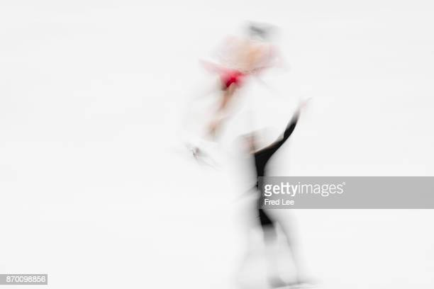 Wenjing Sui and Cong Han of China competes in the Pairs Free Skating on day two of Audi Cup of China ISU Grand Prix of Figure Skating 2017 at Beijing...
