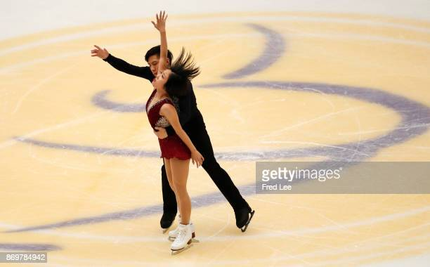 Wenjing Sui and Cong Han of China competes in the Pairs Short Program on day one of the ISU Grand Prix of Figure Skating at on November 3 2017 in...
