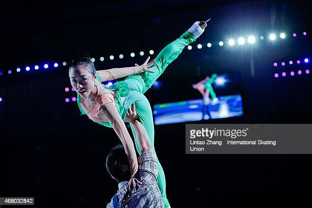 Wenjing Sui and Cong Han of China during the Exhibition Program on day five of the 2015 ISU World Figure Skating Championships at Shanghai Oriental...
