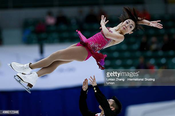 Wenjing Sui and Cong Han of China perform during the Pairs Short Program on day one of Audi Cup of China ISU Grand Prix of Figure Skating 2015 at...