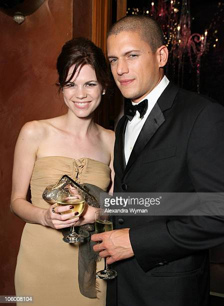 Wentworth Miller and Marianna claveno during 58th Annual Primetime Emmy Awards FOX After Party Inside at Spago in Beverly Hills California United...