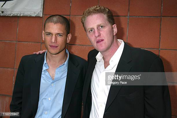 Wentworth Miller and Michael Rapaport during 2005/2006 FOX Prime Time UpFront Inside Green Room and Party at Seppi's Restaurant and Central Park...