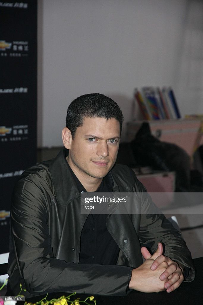 Wentworth Miller attends a press conference to promote Chevrolet during his visit to Shanghai on October 17 2010 in Shanghai China