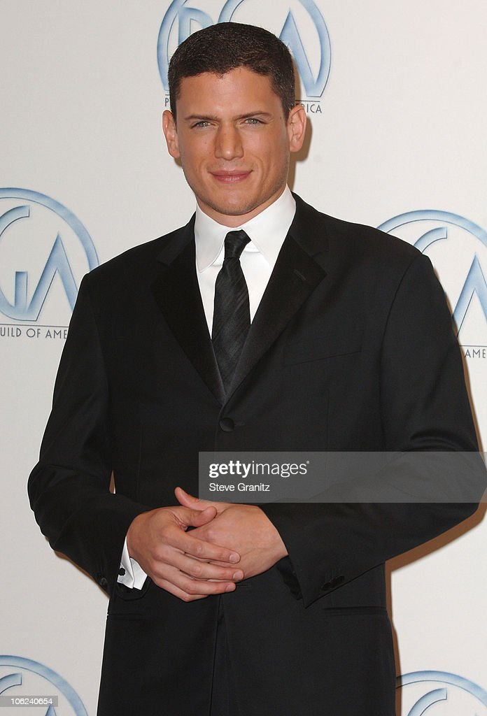 Wentworth Miller during 2007 Producers Guild Awards Press Room at Century Plaza Hotel in Century City California United States