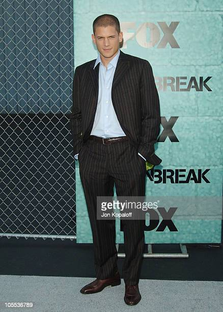 Wentworth Miller during 'Prison Break' Launch Party Arrivals at Hangar 8 Santa Monica Airport in Santa Monica California United States