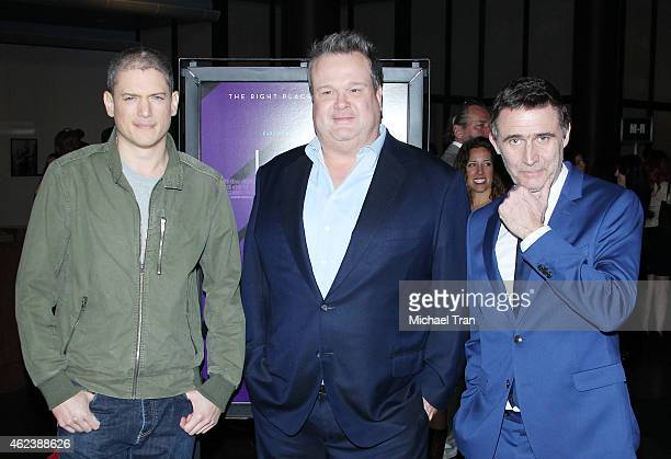 Wentworth Miller Eric Stonestreet and Erik Van Looy arrive at the Los Angeles special screening of 'The Loft' held at Directors Guild of America on...