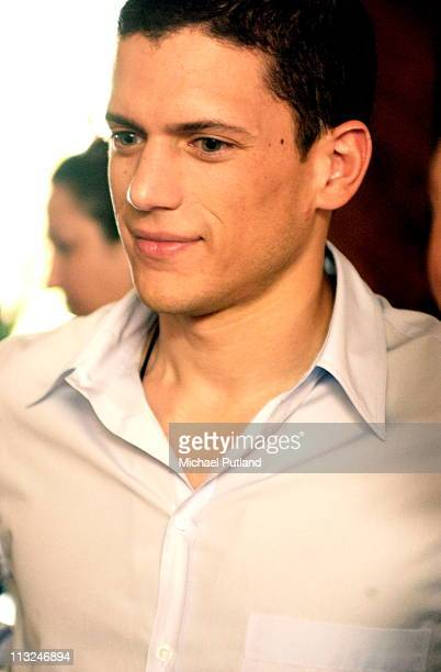 Wentworth Miller pictured backstage during the 2003 Venice Film Festival 30 August 2003