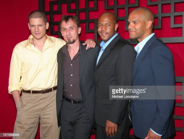 Wentworth Miller Robert Knepper Rockmond Dunbar and Amaury Nolasco