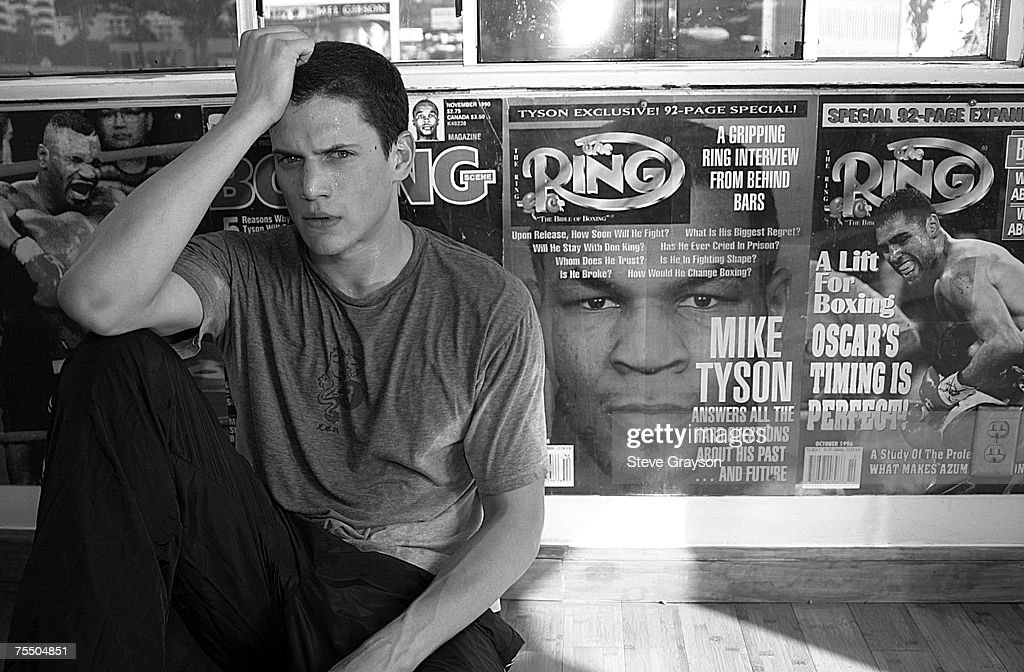 Wentworth Miller trains for his upcoming role in Miramax's 'The Human Stain' starring Anthony Hopkins at the Hollywood Gym in Hollywood Utah