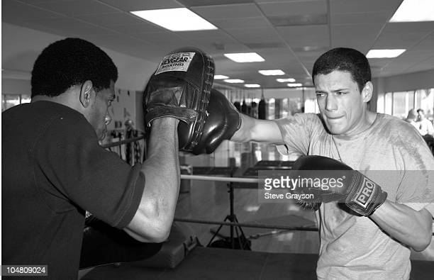 Wentworth Miller trains with Terry Claybon for his upcoming role in Miramax's 'The Human Stain' starring Anthony Hopkins