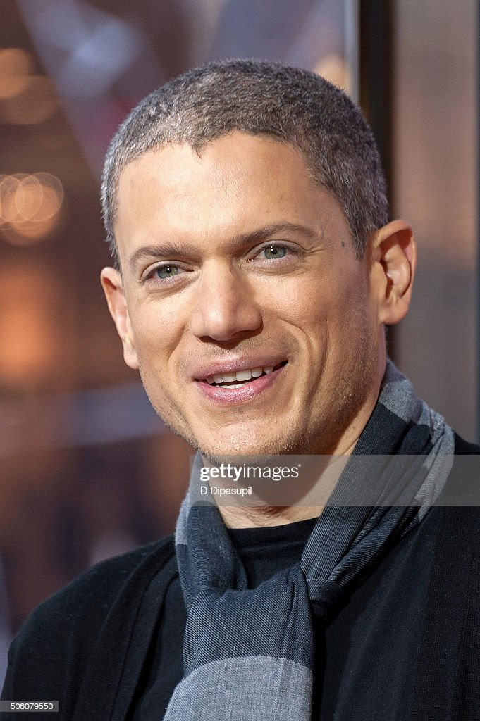Wentworth Miller visits 'Extra' at their New York studios at HM in Times Square on January 21 2016 in New York City
