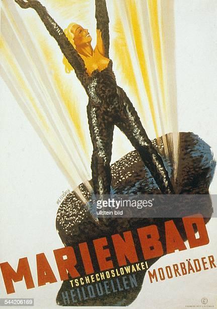 Werbeplakat für den Kurort Marienbad 1937