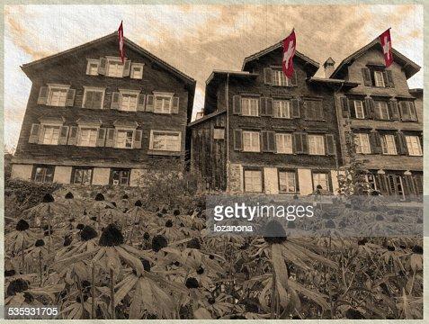 werdenberg, schweiz  sepia : Stock Photo