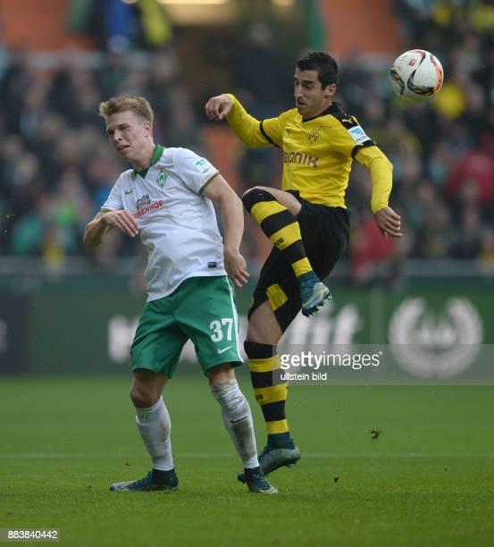 FUSSBALL 1 BUNDESLIGA SAISON SV Werder Bremen Borussia Dortmund Janek Sternberg gegen Henrikh Mkhitaryan