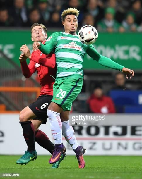 FUSSBALL 1 BUNDESLIGA 11 SPIELTAG SAISON SV Werder Bremen Eintracht Frankfurt Bastian Oczipka gegen Serge Gnabry