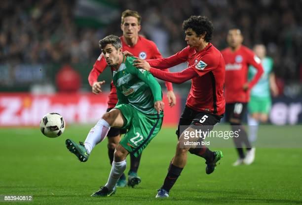 FUSSBALL 1 BUNDESLIGA 11 SPIELTAG SAISON SV Werder Bremen Eintracht Frankfurt Fin Bartels gegen Jesus Vallejo