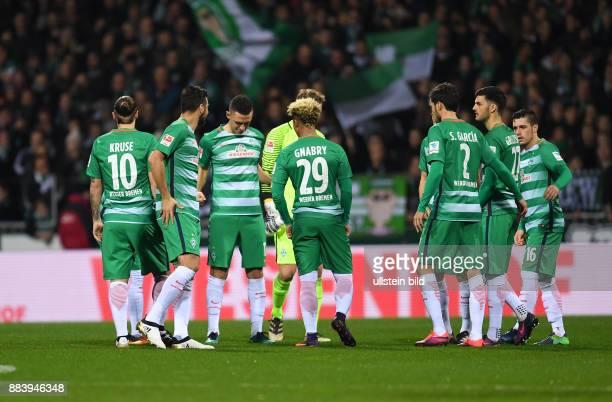 FUSSBALL 1 BUNDESLIGA 11 SPIELTAG SAISON SV Werder Bremen Eintracht Frankfurt Max Kruse Claudio Pizarro Milos Veljkovic Torwart Felix Wiedwald Serge...