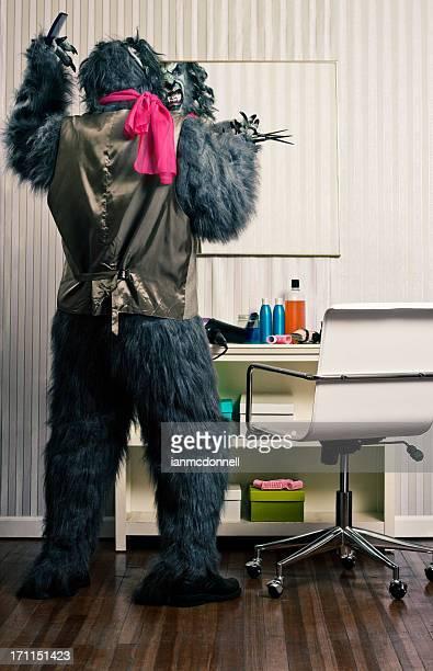 Hombre lobo peluquería