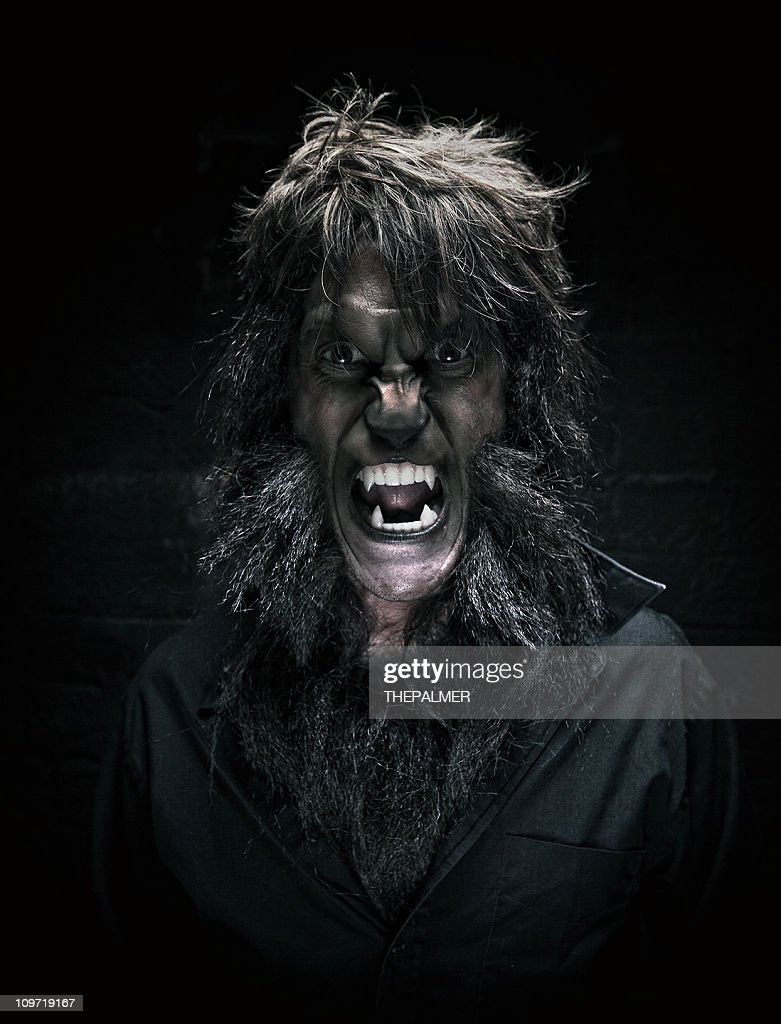 werewolf man portrait : Stock Photo