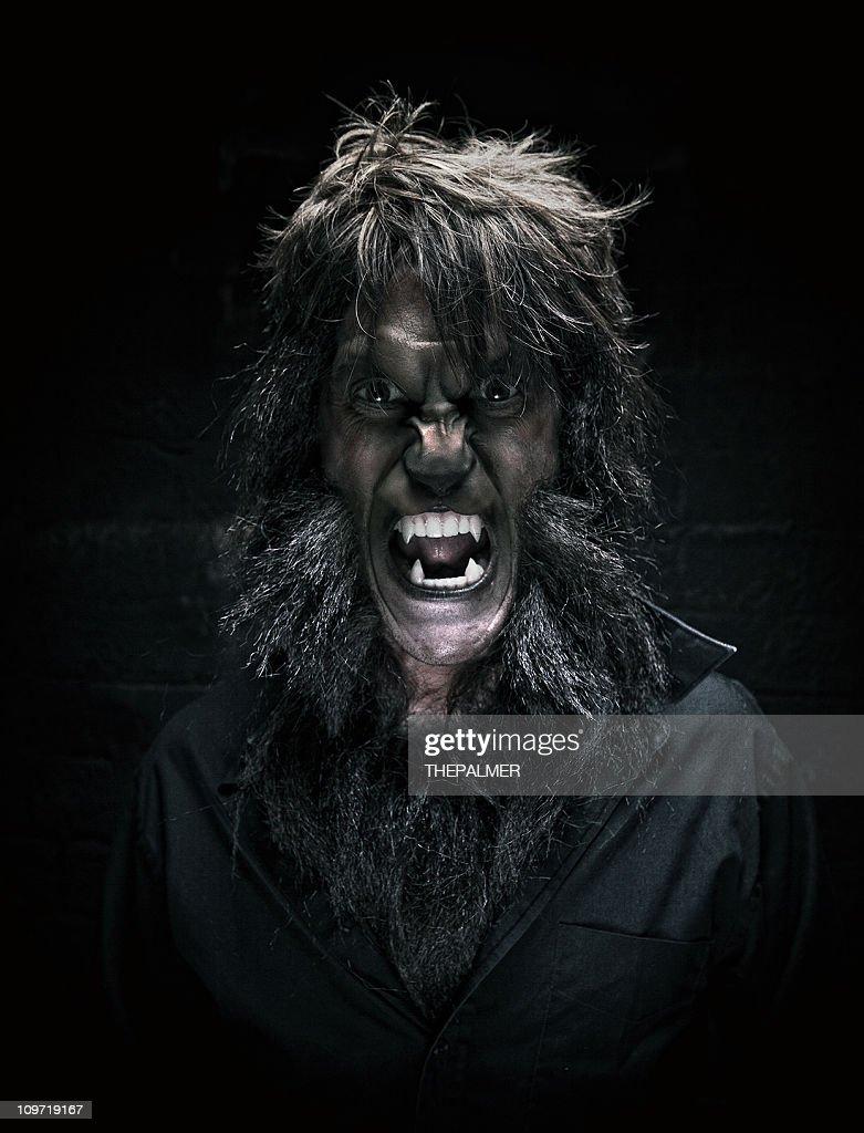 Ritratto di uomo Lupo mannaro : Foto stock
