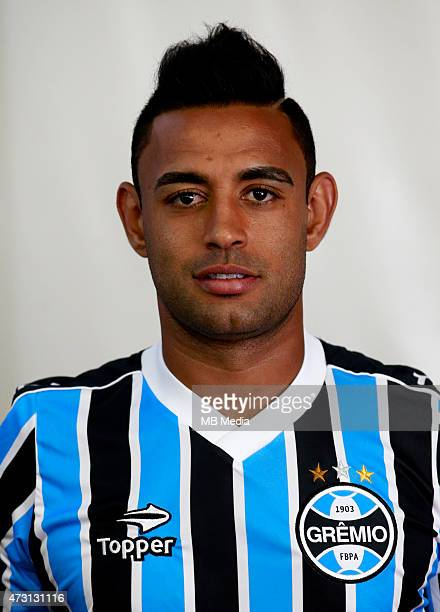 Werley of Gremio FootBall Porto Alegrense poses during a portrait session on August 14 2014 in Porto AlegreBrazil